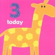 Age 3 Birthday Card - Giraffe
